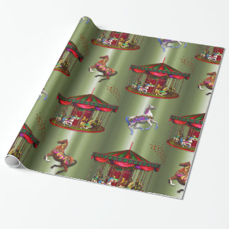 Christmas Carousel Wrapping Paper