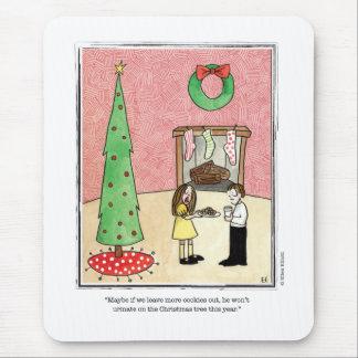CHRISTMAS cartoon by Ellen Elliott Mouse Pad