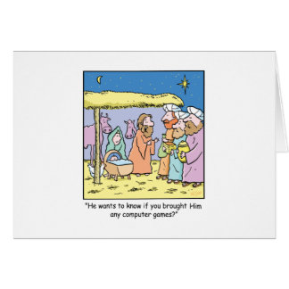 Christmas Cartoon Three Wise Kings Computer Games Card