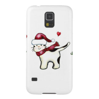 Christmas Cat Galaxy S5 Cases