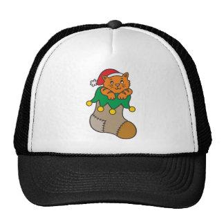 Christmas cat christmas cat mesh hat