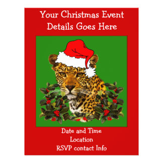 Christmas Cat Personalized Flyer