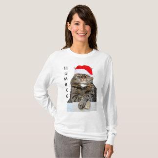 Christmas Cat Humbug Photo with Santa Hat Shirt