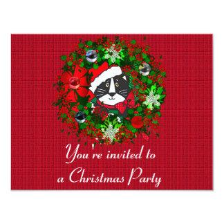 "Christmas Cat 4.25"" X 5.5"" Invitation Card"