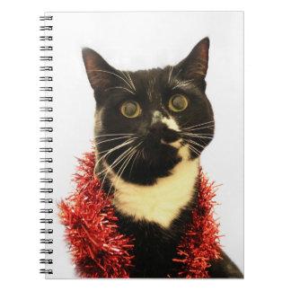 Christmas Cat Notebook