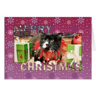 Christmas - Cat - Oscar Card