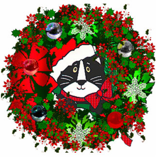 Christmas Cat Cut Out