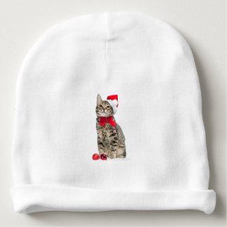 Christmas cat - santa claus cat - cute kitten baby beanie