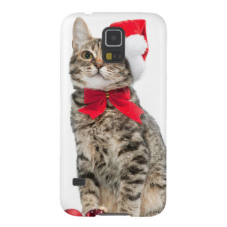 Christmas cat - santa claus cat - cute kitten case for galaxy s5
