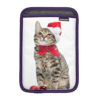 Christmas cat - santa claus cat - cute kitten iPad mini sleeve