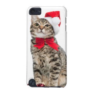 Christmas cat - santa claus cat - cute kitten iPod touch (5th generation) cover