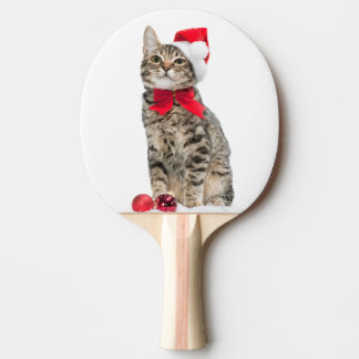 Christmas cat - santa claus cat - cute kitten ping pong paddle