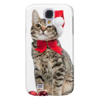 Christmas cat - santa claus cat - cute kitten samsung galaxy s4 cases