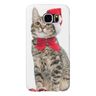 Christmas cat - santa claus cat - cute kitten samsung galaxy s6 cases