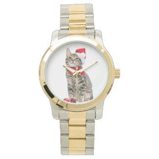 Christmas cat - santa claus cat - cute kitten watch