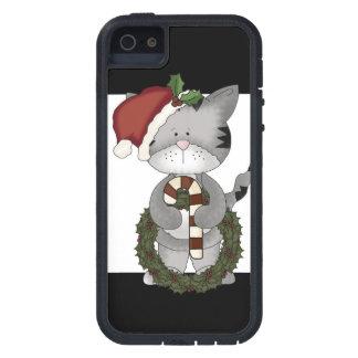 Christmas Cat Santa Claus iPhone 5 Case