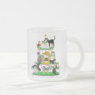 Christmas Cat Tree Frosted Mug