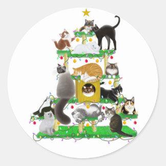Christmas Cat Tree Sticker