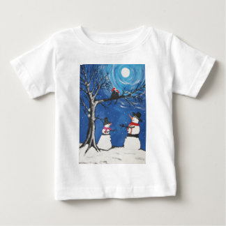 Christmas Cats In Love Baby T-Shirt