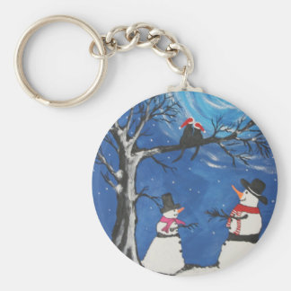 Christmas Cats In Love Key Ring