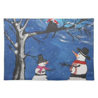 Christmas Cats In Love Placemat