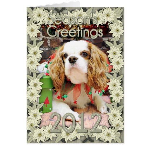Christmas - Cavalier King Charles Spaniel Mei Mei Card