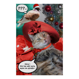 CHRISTMAS CELEBRATIONS OF PRINCESS TATUS CAT POSTERS