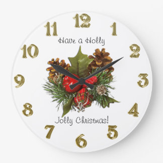 Christmas Centerpiece Design Large Clock