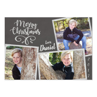 Christmas Chalkboard Collage Card