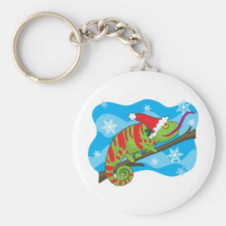Christmas Chameleon Keychain