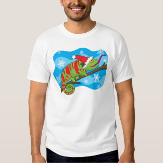 Christmas Chameleon T Shirts