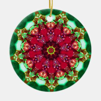 Christmas Chandelier Fractal Ceramic Ornament