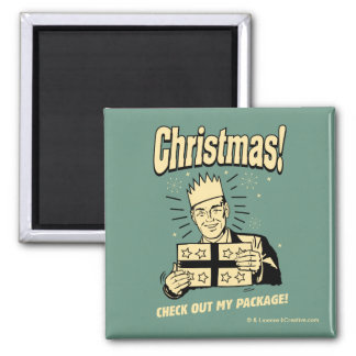Christmas: Check Out My Package Magnet