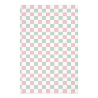 Christmas Checkerboard Personalized Stationery