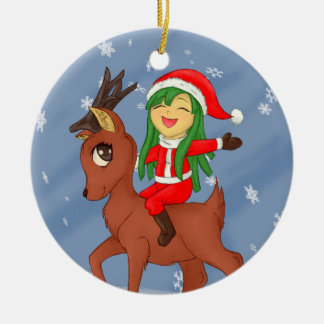 Christmas Cheer Ceramic Ornament
