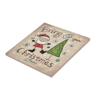 Christmas Cheer Ceramic Tile