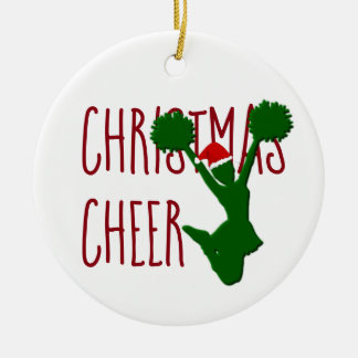 Christmas Cheer Cheerleader Holiday Spirit Ceramic Ornament
