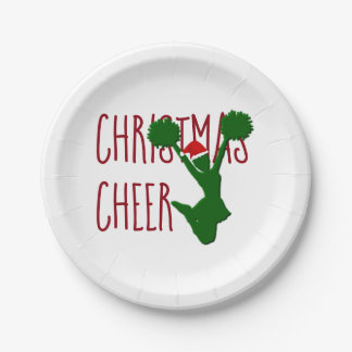 Christmas Cheer Cheerleader Holiday Spirit Paper Plate