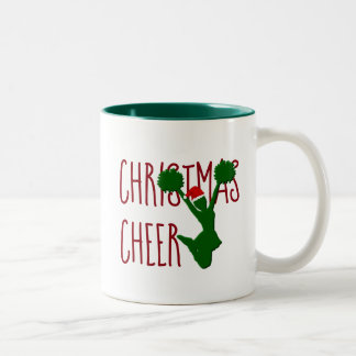 Christmas Cheer Cheerleader Holiday Spirit Two-Tone Coffee Mug