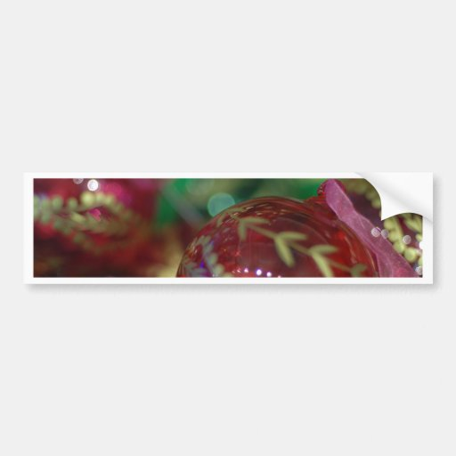 Christmas cheer decoration ball bumper stickers