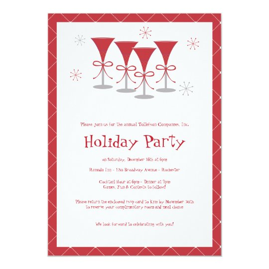 Christmas Cheer Holiday Cocktail Party Invitation