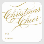 CHRISTMAS CHEER | HOLIDAY GIFT TAGS SQUARE STICKER