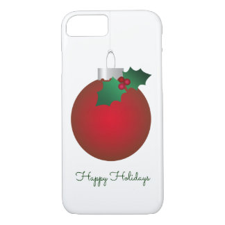 Christmas Cheer Vintage Red Ornament Bauble iPhone 8/7 Case