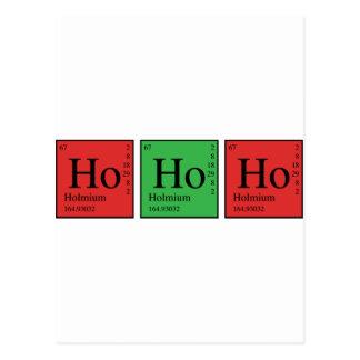 Christmas Chemistry Postcard