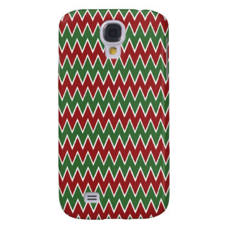 Christmas Chevron Red and Green Zigzag Pattern Samsung Galaxy S4 Cover