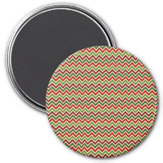 Christmas Chevron Zigzag Pattern Magnet