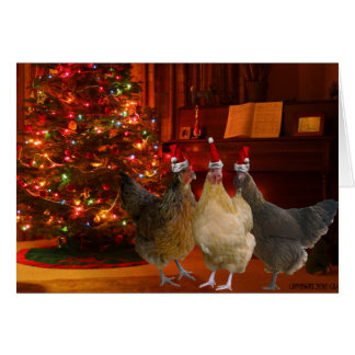 Christmas Chickens Note Card