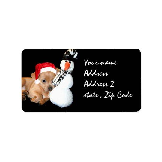 Christmas Chihuahua Address Label