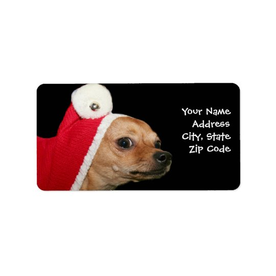 Christmas chihuahua dog address labels