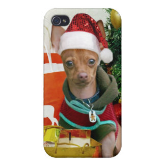 Christmas chihuahua dog case for iPhone 4